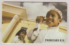 South Africa Telkom Phonecard, Wondering Girl - Girl on Wire Phone t17