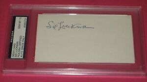 SID LUCKMAN Signed 3 x 5 Index Card - PSA Authenticated & Slabbed GRADED 10