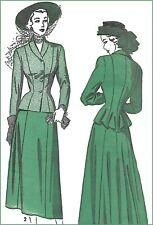 "A4962 Advance 4962 VTG 1950s Sewing Pattern Jacket + Skirt Bust 30 B30"" Size 12*"