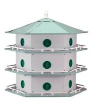 NEW Heath Aluminum 18 Room Deluxe Purple Martin Birdhouse
