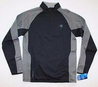 Champion Men's Powertrain Tech Fleece 1/4 Zip Pullover Team Black Gray Heather S