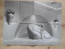 John Baldessari Autogramm Ausstellungsposter gefaltet