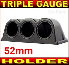 "TRIPLE GAUGE HOLDER BINNACLE POD FOR 52mm 2""INCH GAUGES - CAR GAUGE HOLDER"
