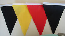 FOOTBALL BUNTING GERMANY BLACK YELLOW & RED FABRIC FLAGS DECORATION 2mt or more