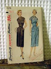 50s Simplicity Dress Pattern 3576 14/32 bust