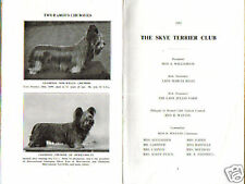 RARE SKYE TERRIER DOG BOOK LADY MARCIA MILES 1951
