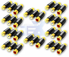 10X Triple 3X RCA/Phono Female to Female Audio Video Connector Coupler Gold LOT
