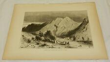 1874 Antique Print/LIMESTONE FORMATION ON PITT RIVER, BRITISH COLUMBIA
