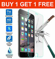 For Apple iPhone 5 6 6s 7 8 SE 2nd Gen 2 Pack Tempered Glass Screen Protector
