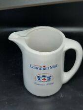 """Canadian Mist Pitcher excellent condition red/blue on white 6"""" x 4"""" body Heavy!"""