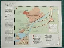 WW2 WWII MAP ~ SCHWEINFURT RAIDS 17 AUGUST 1943 BOMBING RESULTS FLIGHTS BARRACKS