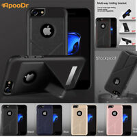 ApooDr Multi-angle Kickstand cover Shockproof Bumper Case For iphone 7 / 7 Plus