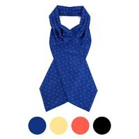 Polka Dots Microfiber Poly Woven Ascot With Hooks  (PPA1710)