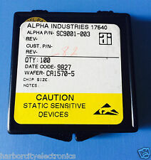 SC9001-003 ALPHA INDUSTRIES CAPACITOR CHIP RF MICROWAVE PRODUCT 82/units total