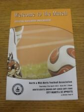 21/04/2012 North And Mid-Hertfordshire Junior Cup Final: City Hearts v St Ippoly