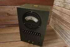Vintage 1940's WESTON SIGNAL CORPS MILITARY CABINET BE-70-P PHONE RADIO RECEIVER
