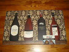 Memory Foam Anti Fatigue  Chef Kitchen Floor Mat Rug18x30 WINE Bottle LATTICE!