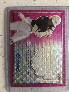 2020 Perfect Game National Showcase Metal Auto Pink Wave CHRISTIAN MOORE /6 RC