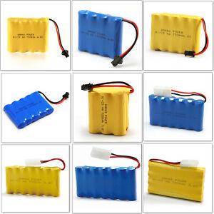 700/1400mAh Rechargeable Battery Pack RC Ni-Cd Tamiya Plug 4.8V~ 9.6V AA Toy Car
