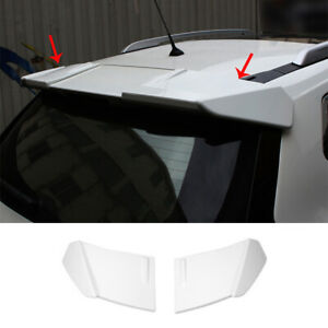 For Nissan Rogue 2014-2020 Glossy White Roof Trunk Spoiler Wing Flap Trim 2pcs