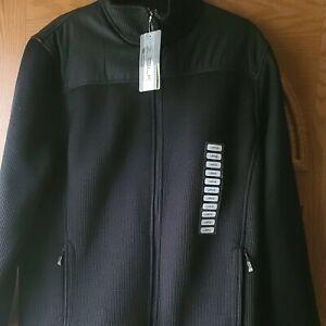 NWT ZeroXPosur Performance Men's Size L Black Sweaterknit Softshell Jacket