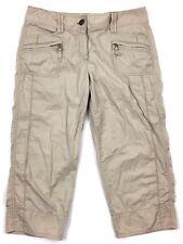 Ann Taylor 4 woman's sz small S khaki brown cropped capri pants AS IS K15