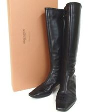 Authentic LOUIS VUITTON Long boots 36  boots leather Women[Used]