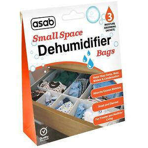 Small Space Dehumidifier Bags Sachet Pack Mould Mildew Damp Wardrobe Drawers