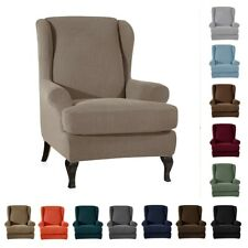 Stretchy Wingback Armchair Covers Furniture Stool Chair Slipcover Protector
