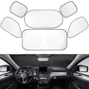 6x Foldable Car Windshield Windscreen Sun Shade Reflective Block Cover Visor