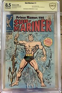 Sub-Mariner #1 Signed Frank Giacoia CBCS Verified 8.5 Not CGC Marvel Comic 1968