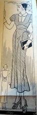 Lovely Vtg 1930s Dress Anne Adams Sewing Pattern 16/34