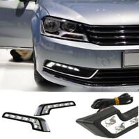 L Shaped White 6 LED 12V Car Front Grille Mount Fog Light Lamp Car Accessories