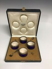 F. Hardy Wolfers, Liege Belgium Set Of Salts & Spoons In Original Box
