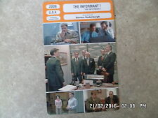 CARTE FICHE CINEMA 2009 THE INFORMANT ! Matt Damon Melanie Lynskey Scott Bakula