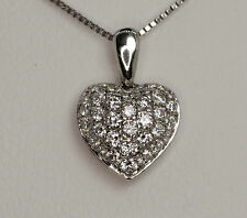 Valentine DIAMONDS Heart pendant necklace 18ct GOLD , ladies Womens ideal gift