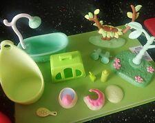 Lps Accesorios Bundle X 12 mimar belleza árboles verde Littlest Pet Shop Lps difícil de encontrar