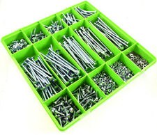 510 M6 Assorted Zinc Cup Square Carriage Bolt Coach Screw Washers Full Nuts Kit