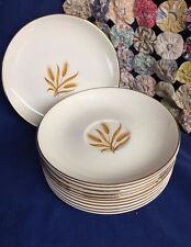 Vintage 11 Pc Set of Golden Wheat 22 KT Gold Homer Laughlin 3 Wheat Stalks