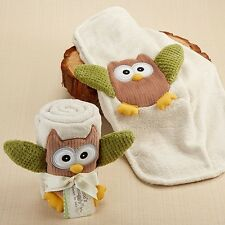 My Little Night Owl Plush Velour Baby Blanket Baby Shower Gift