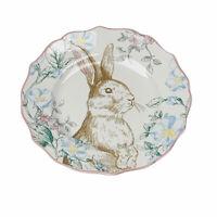 Blossom Bunny Easter Rabbit Floral Porcelain Salad Dessert Side Plates Set of 4