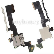 Power Volume Button Flex Cable+Sim Card Reader SD Holder Slot For HTC One M9