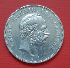 """Sachsen: 5 Mark """"König Georg von Sachsen"""" 1903 -E- !!"""