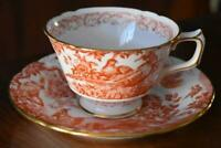 LOVELY ESTATE ROYAL CROWN DERBY RED AVES TRADITIONAL CUP AND SAUCER -HAVE ELEVEN
