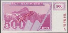 TWN - SLOVENIA 8s - 500 Tolarjev 1990 UNC Specimen - Prefix AH
