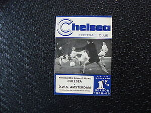 Chelsea v DWS Amsterdam Oct 1968 UEFA Cup 2nd round 1st Leg