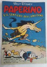 Albo d'oro prima serie n. 208 Mondadori 1950 rara storia Paperino e l'unicorno