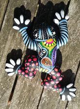 Clay Hand Painted Frog Rana Wall Art Mexican Guerrero 6x5x1 Pottery #1Small