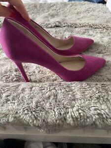 Faith Hot Pink Cerise / Fuchsia High Heel Suede Shoes Size 5