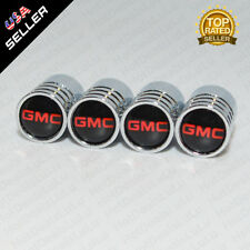 Silver Chrome Wheels Tire Tyre Air Valve Caps Stem Valve Cover With GMC Emblem